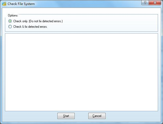 MiniTool Partition Wizard check file system